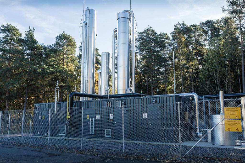 Suomenoja, Espoo biokaasulaitos, biogas production facility
